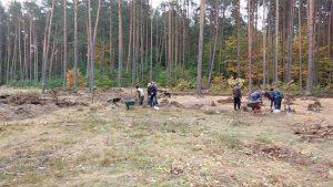 opgravingen bij de Himmelfahrtstrasse - Kappersbarak