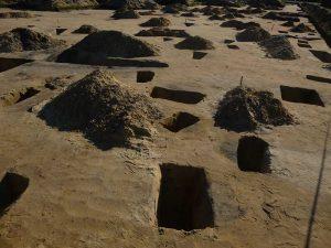 Opgravingen in de afvalkuil