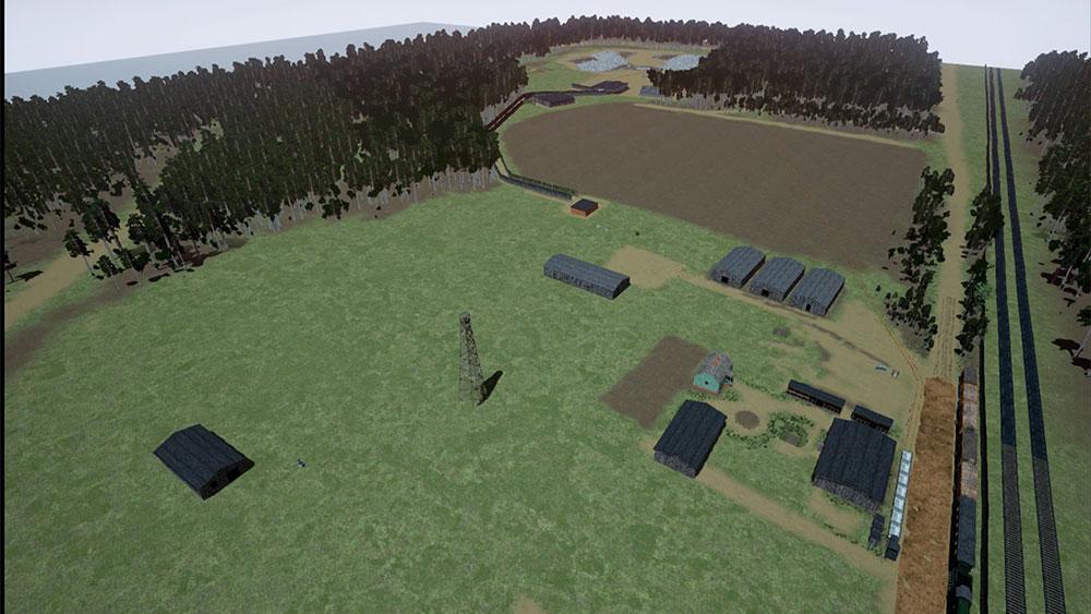 reconstructie van de archeologische opgravingen in Sobibor